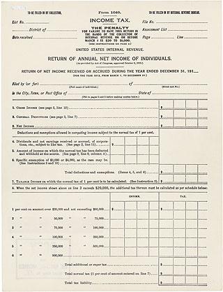 1913 Form 1040